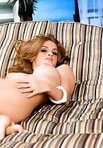 Faye Reagan's warming herself...