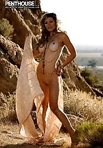 Heather Vandeven stops to strike some...